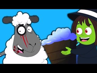 baa baa pecora nera | Video spaventoso | Rhymes Per i bambini