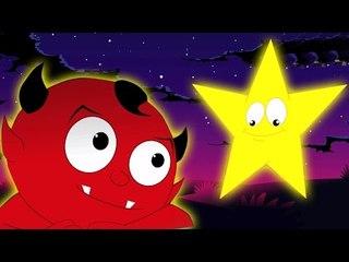 Twinkle Twinkle piccola stella | Video spaventoso | Popolare Filastrocca