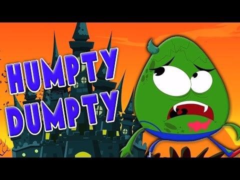 Humpty Dumpty sentado en una pared   canciones para niños   Scary Humpty Dumpty   Halloween Rhymes