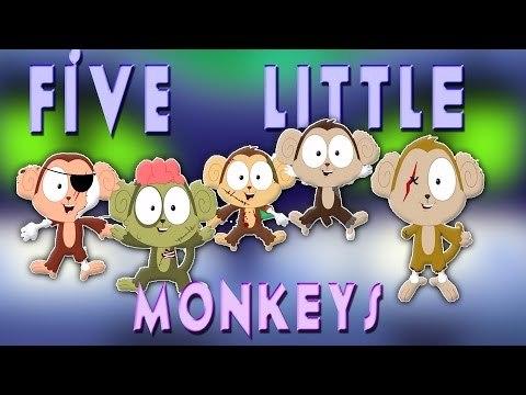Năm Ít Monkeys | Halloween bài hát | bọn trẻ Sông | Halloween songs For Kids | Five Little Monkeys