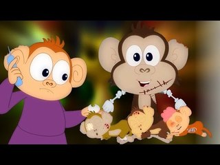 Cinque scimmiette   filastrocca spaventoso   Scary Songs Collection For Kids   Five Little Monkeys