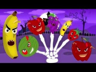 น่ากลัวผลไม้นิ้วมือขครอบครัว | เด็กสัมผัส | เพลงสำหรับเด็ก | น่ากลัวการ์ตูน | Fruits Finger Family