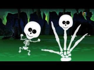 น่ากลัวโครงกระดูกนิ้วครอบครัว   ที่นิยมน่ากลัวคล้องจอง   การศึกษาเพลง   Scary Skeleton Finger Family