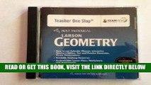 [DOWNLOAD] PDF Holt McDougal Larson Geometry: Common Core Teacher s One Stop Planner DVD Geometry