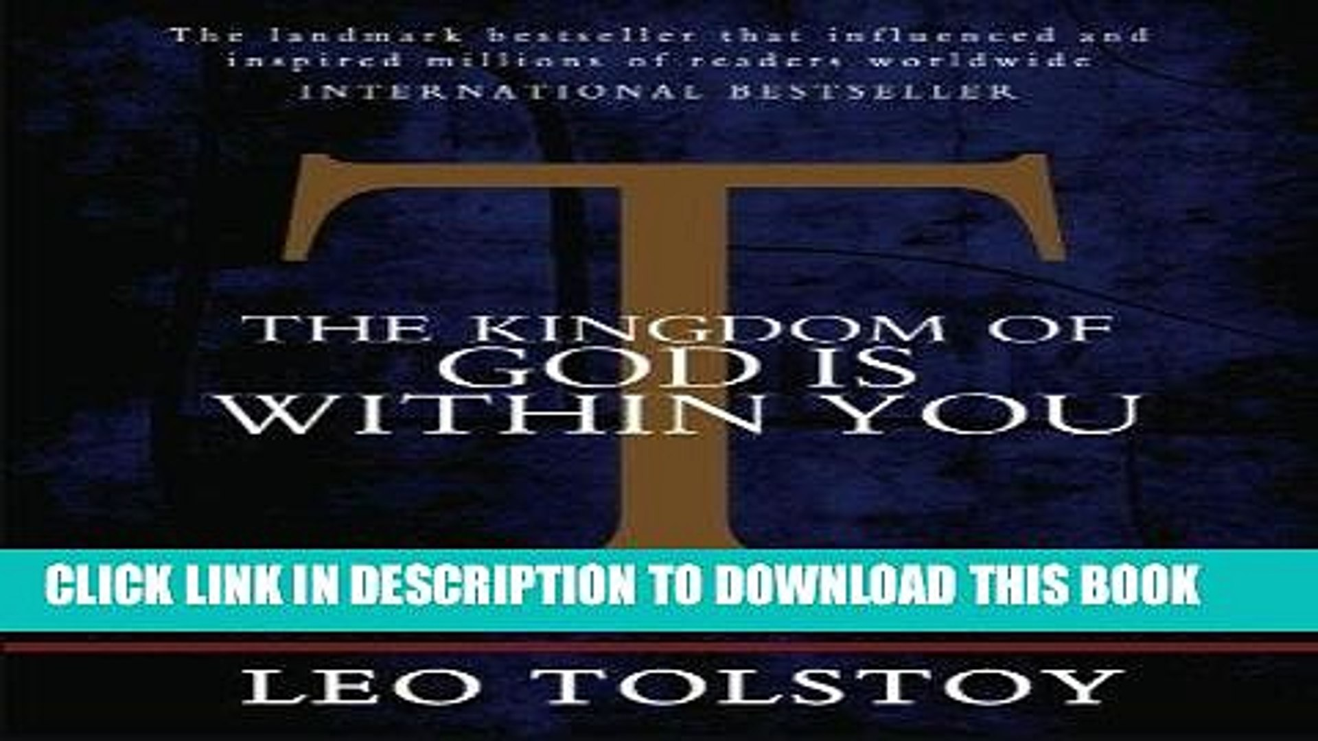 [EBOOK] DOWNLOAD The Kingdom of God is Within You PDF