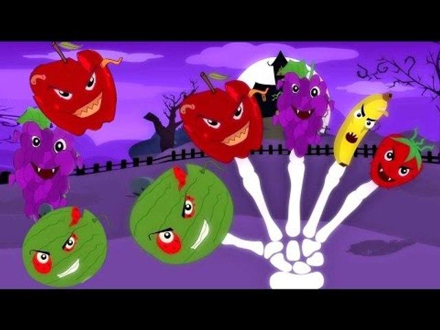 Scary Früchte Finger Familie   Kinderreim   Bildungs-Video   Nursery Rhymes   Fruits Finger Family