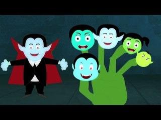 Vampiro Dedo Família | Berçário rima | Dedo Canção | assustador Canções | Vampire Finger Family Song