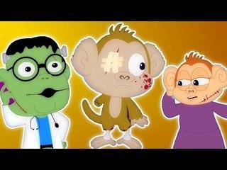 Năm khỉ nhỏ   vần điệu trẻ phổ biến   video giáo dục cho trẻ em   Five Little Monkeys