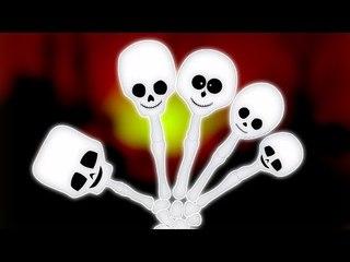 dedo familia esqueleto   rima populares aterrador   canción Halloween de   Skeleton Finger Family