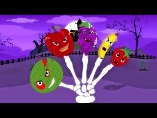 frutas dedo família   rimas de berçário coleção   Scary Songs For Kids   Fruits Finger Family Song