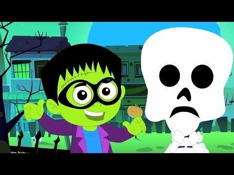 Truco o de | de miedo vivero rima | Halloween canción | Colección de vídeo | Trick or Treat song