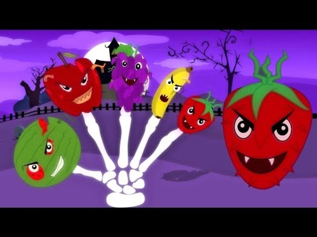 Effrayant Fruits Doigt Famille | Effrayant Comptines | éducative vidéo | Scary Fruits Finger Family