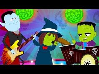 monsters party song   original nursery rhymes   halloween song   scary rhymes   kids videos