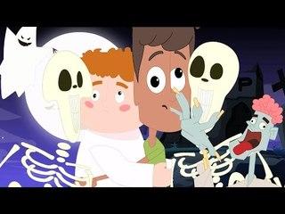 Dia das Bruxas Noite Canção   assustador Canção para miúdos   Fantasma Canção   Halloween Night Song
