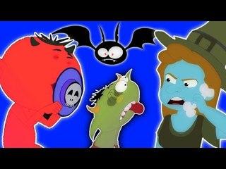 Cinco monstro pequenos   assustador Rhymes   Compilação   mais populares berçário Rima