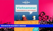 READ BOOK  Lonely Planet Vietnamese Phrasebook   Dictionary FULL ONLINE