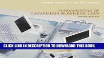[Free Read] Fundamentals of Canadian Business Law, Second Edition Free Online