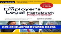 [Free Read] The Employer s Legal Handbook: Manage Your Employees   Workplace Effectively Full Online