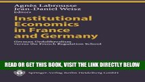 [READ] EBOOK Institutional Economics in France and Germany: German Ordoliberalism versus the