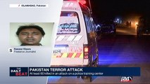 Pakistan terror attack : at least 60 killed in an attack on a police training center