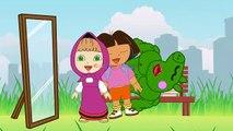 #Masha and Dora Lollipop Colored Tongue #Funny Story #Rainbow Rhymes