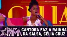 Cantora encarna a Rainha da Salsa, Célia Cruz