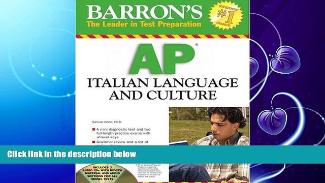 FAVORITE BOOK  Barron s AP Italian Language and Culture: with Audio CDs