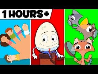 Finger Family | Humpty Dumpty Sat On A Wall | Three Little Kittens | Nursery Rhyme