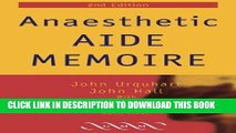 [READ] EBOOK Anaesthetic Aide Memoire ONLINE COLLECTION