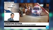 Pakistan: Islamic state group, Taliban and a third terror group claim responsibility for Quetta police academy attack