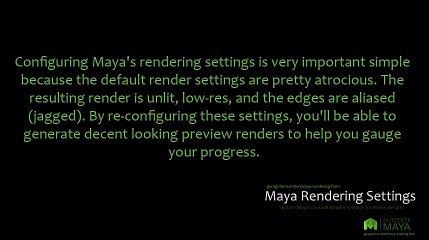 Maya Rendering