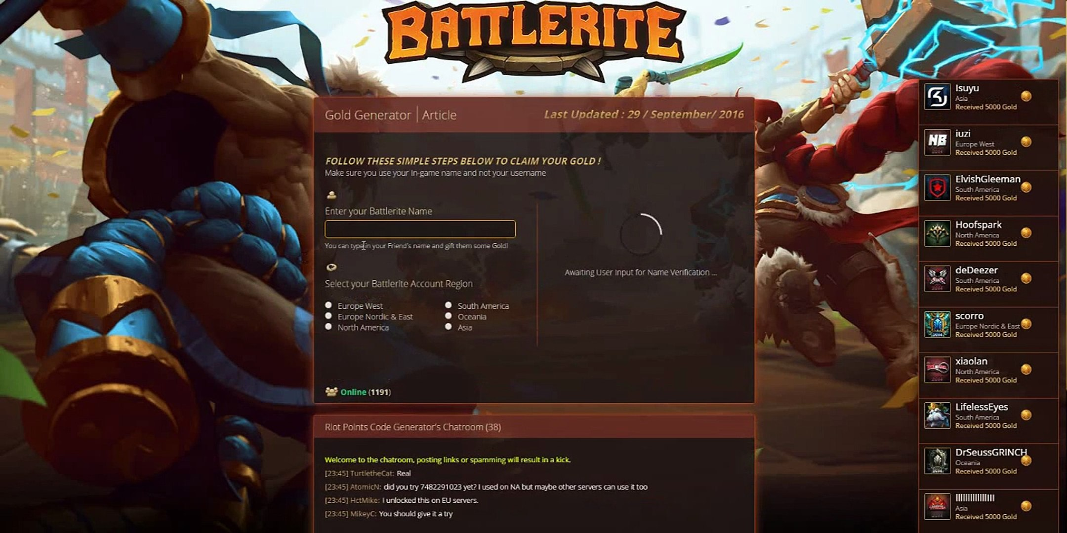 Battlerite Gold