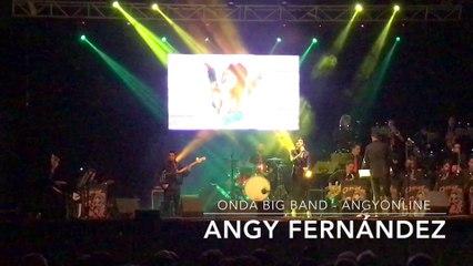 """Angy canta """"Si nos dejan"""" de Tamara, en el concierto con la banda Onda Big Band"""