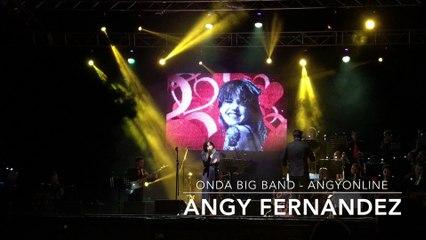 """Angy canta """"I Will Survive"""" de Gloria Gaynor, en el concierto con la banda Onda Big Band"""
