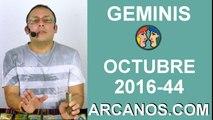 GEMINIS HOROSCOPO SEMANAL 23 al 29 de OCTUBRE 2016-Amor Solteros Parejas Dinero Trabajo-ARCANOS.COM