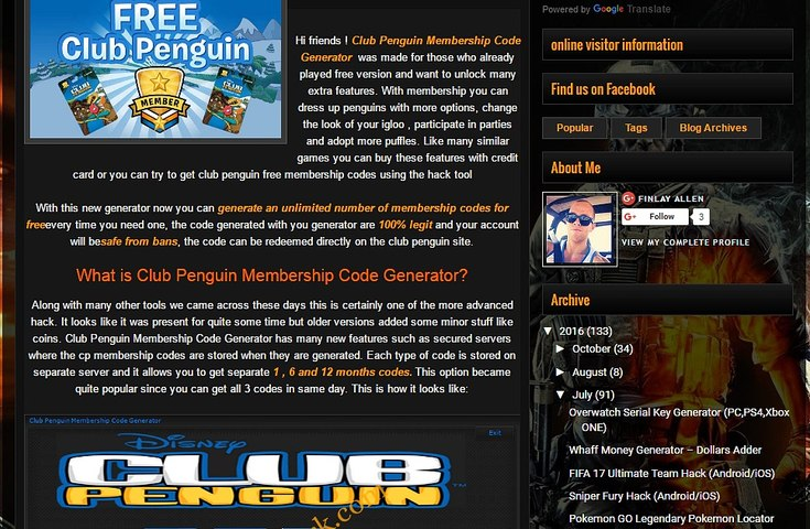Club Penguin Membership Code Generator