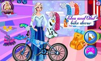 Frozen Disney Elsa - Elsa And Olaf Frozen Bike Decor videos games for kids