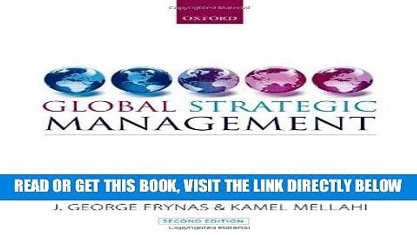 [New] Ebook Global Strategic Management Free Online