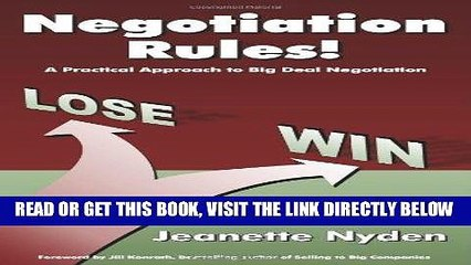 [New] Ebook Negotiation Rules: A Practical Guide To Big Deal Negotiation Free Read