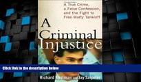 Must Have PDF  A Criminal Injustice: A True Crime, a False Confession, and the Fight to Free Marty