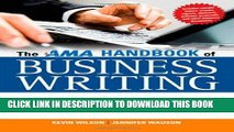[New] Ebook The AMA Handbook of Business Writing: The Ultimate Guide to Style, Grammar,