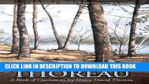 Read Now Thumbing Through Thoreau: A Book of Quotations by Henry David Thoreau PDF Online