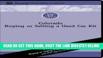 [FREE] EBOOK Colorado Buying or Selling a Used Car Kit [With CDROM] (Bradford Legal Series) ONLINE