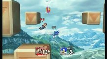 SSBM Super Mario Vs. Sonic The Hedgehog 2 - Second Encounter - Super Smash Bros Brawl