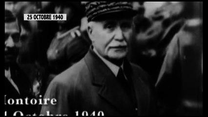 Éphéméride/25 octobre 1940: Le maréchal Pétain, chef d'état français rencontre Adolf Hitler