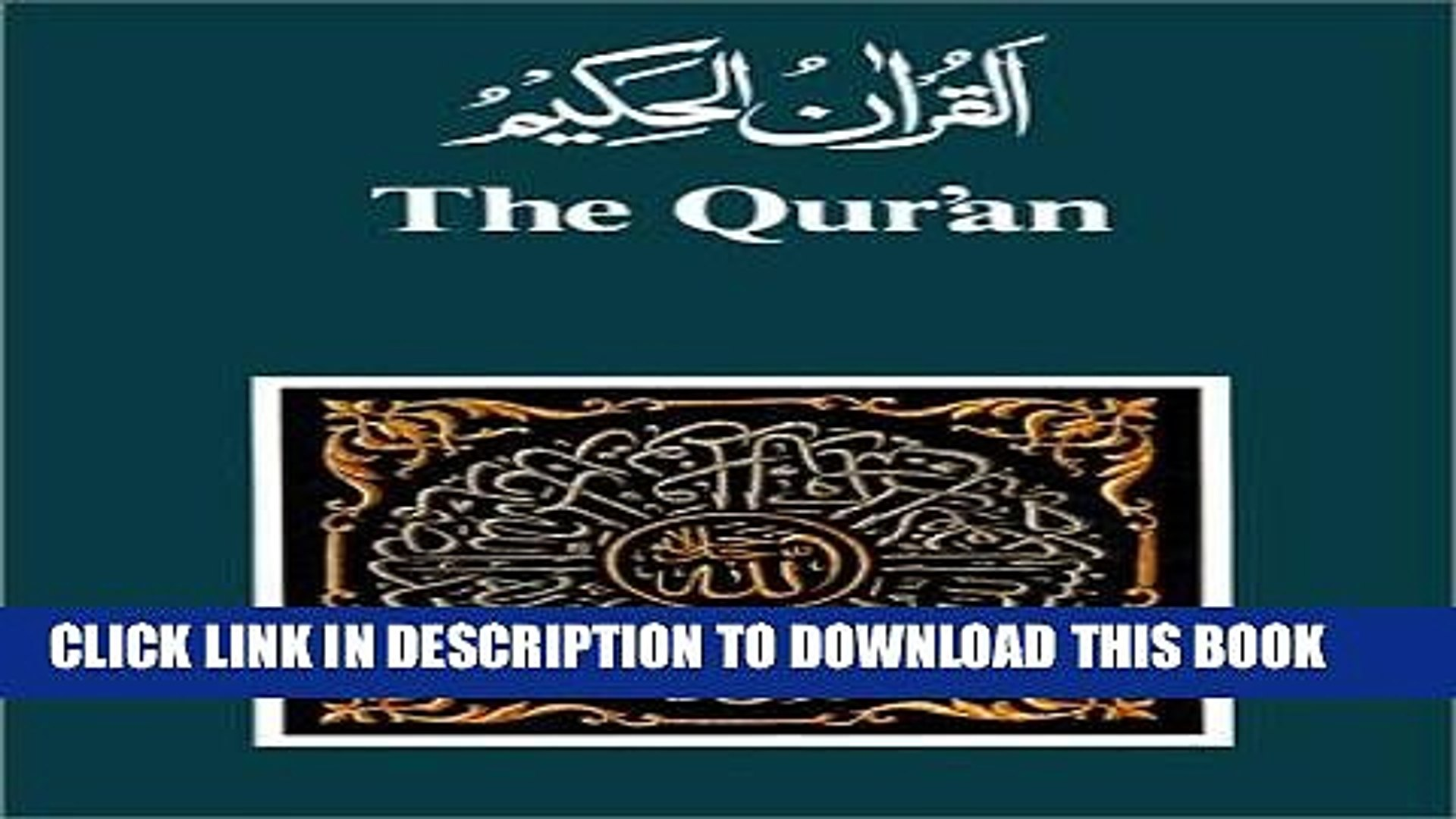 [PDF] FREE The Qur an: Arabic Text and English Translation (English and  Arabic Edition) [Read]