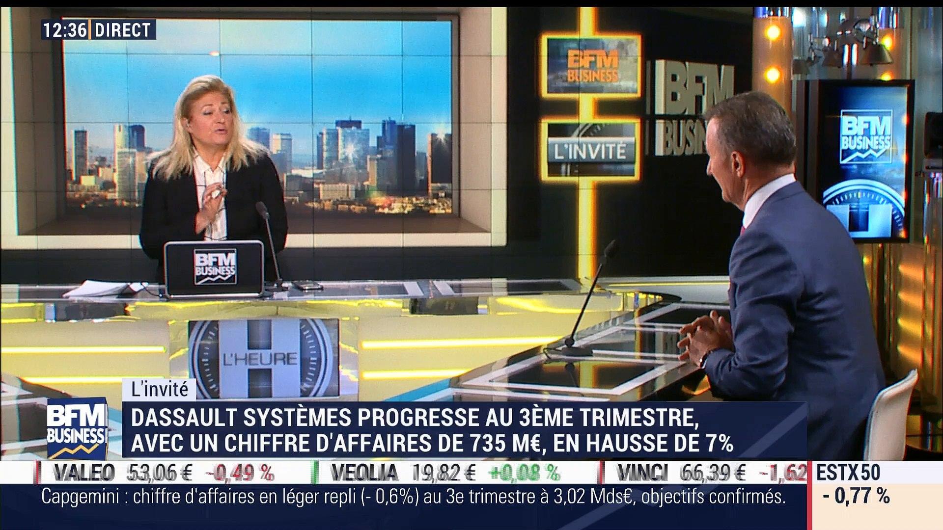 Excellents résultats trimestriels pour Dassault Systèmes, avec un chiffre d'affaires en hausse de 7% - 26/10