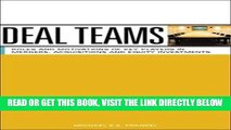 [READ] EBOOK Deal Teams: The Roles and Motivations of Management Team Members, Investment Bankers,