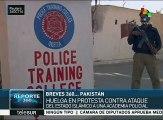 Paquistaníes repudian ataque del Daesh a una academia policial