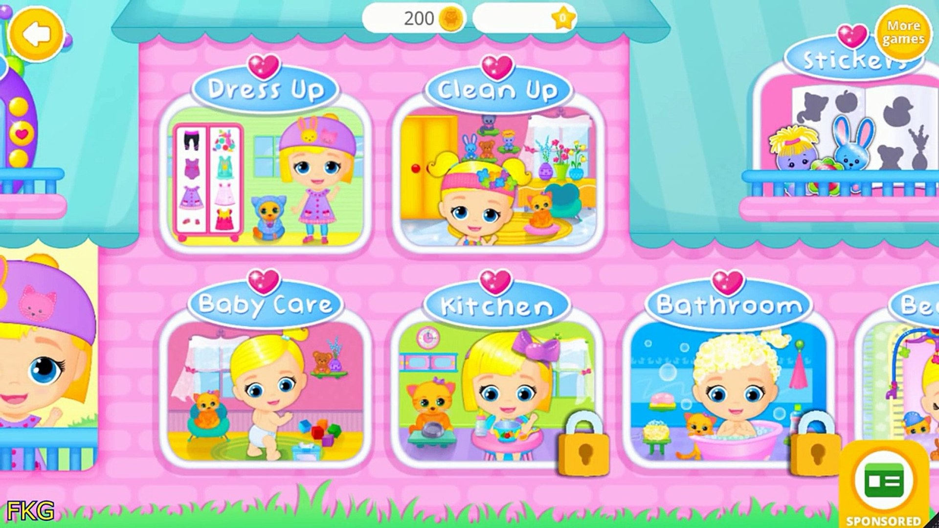 Baby Doll House Lily & Kitty Cute Baby And Pet Care Games For Kids And Toddlers
